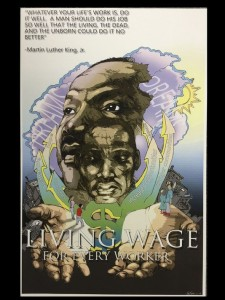 1st Place Poster Winner: Jason Kinsey in Tompkins County Human Rights Commission Poster Contest: What Would MLK Say About a Living Wage in Tompkins County?