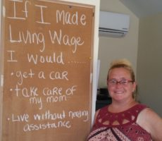 Why Clarissa Needs a Living Wage…